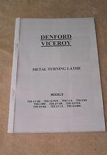 Denford Viceroy Lathe Manual (Worldwide Shipping)