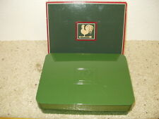 NIB AVON Country Christmas Collection for Him Green Plastic Box Black Suede 1982