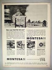 Montesa Motorcycle PRINT AD - 1965 ~ Diablo, Impala Sport, Enduro