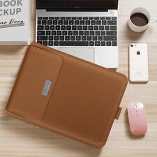 Ultra-thin waterproof folding pu macbook bag,brown 13/14 inch universal