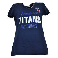 NFL Tennessee Titans True Leader Womens Tshirt Tee Blue Short Sleeve V Neck