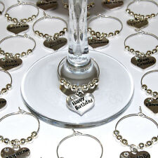 Wedding wine glass charms top table birthday christmas party Favours table decs