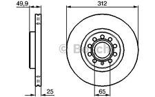 BOSCH Disco de freno (x2) Antes 312mm ventilado SEAT RENAULT 0 986 479 058