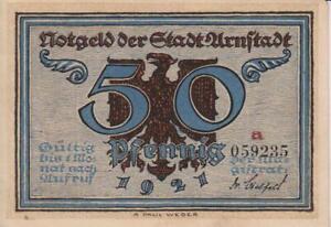 "1921-GERMANY-PAPER MONEY-""NOTGELD"" -50 PFENNING-VERY ATTRACTIVE-14"