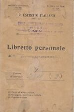 LIBRETTO PERSONALE 1927 Regio esercito italiano scuola allievi ufficiali complem