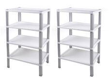 Ondis24 2x Haushaltregal Badregal Kinderzimmerregal Kunststoffregal Scaf weiß