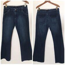 Calvin Klein Women's Blue Wide Leg/Boot Leg Trouser Jeans - 8