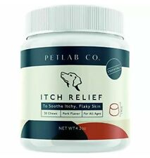 PETLAB Itch Relief Anti Itch Dog Chews Soothes Itchy Skin Fatty Acids Pet Lab