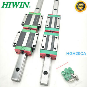CNC Router HIWIN HGR20 HGH20 Linear Guide Rail & 2pc HGH20CA HGW20CC Rail Block