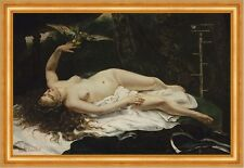 Woman with a Parrot Gustave Courbet Birds Animals Naked Parrot Rod B a3 02173