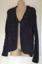 Sonomo Navy Blue Cable Knit Cardigan Hoodie Size Small