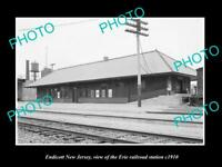 OLD LARGE HISTORIC PHOTO OF ENDICOTT NEW JERSEY, ERIE RAILROAD STATION c1910 2