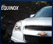 Prospekt brochure 2013 Chevrolet Chevy Equinox (USA)