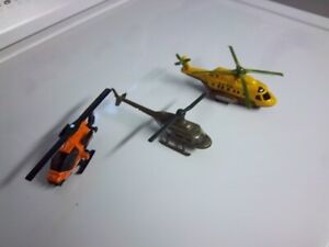 3 - Diecast Helicopters