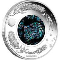 Australia 2012 $1 - Australia Opal Series - The Wombat - 1 Oz Silver Coin + Opal