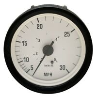 Omc 175608 Faria Se3015B Black / White 30 Mph Marine Boat Speedometer Gauge