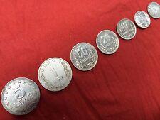 SET OF ALBANIA COINS 5 LEKE 1 LEK 50 20 10 5 1/2 QINDARKA ALUMINIUM COIN 7 PCS