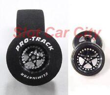 "Pro Track ""Star Black"" 1 1/16"" x .700"" Matching Rr/Ft 1/24 Slot Car Drag Tires"