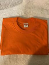 Supreme Blank Tee Orange Size Medium Short Sleeve
