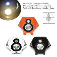 Motorcycle Off-road Headlight  Lamp Assembly With LED Turn Signal High/low Beam