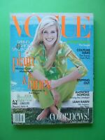 Vogue US March 1996 Claudia Schiffer Shalom Harlow Naomi Campbell Kirsty Hume