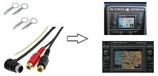 Set Entriegelungsbügel + AUX Adapter RCA Cinch für Audi RNS-D VW MFD 1