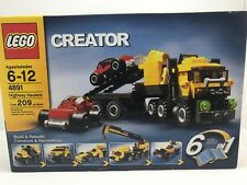 Lego 4891 Creator Highway Haulers / Cars Truck / Tires Wheels Rare Set