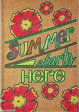 New listing Rain or Shine Garden Flag 12.5 x 18 Summer Starts Here Flowers