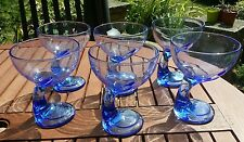 6 BORMIOLI ROCCO jerbi ITALIANO DESERT Coppe/Bicchieri in blu zaffiro.