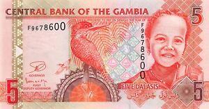 Gambia 5 Dalasis 2013 Unc pn 25a.3