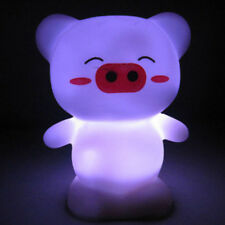 Cute Happy Pig Shape LED Light Colorful Change Home Party Lamp Decorations