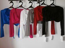 Bolero schwarz, weiß, rot, blau, braun,pink,Mädchen Girl kurze Jacke Langarm w