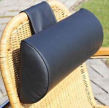 Leder Nackenhalbrolle 30x9x18 cm m. Gegengewicht Nackenstütze Entspannungskissen