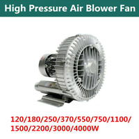 High Pressure Vortex Blower Fan Vacuum Pump Dry Air 1 Phase 220V 250/750/1500W
