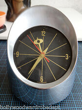 50s taillight headlight desk CLOCK Jefferson 500 atomic vtg mid century bullet