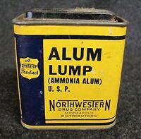 Vintage HYETEST Alum Lump Advertising Tin Northwestern Drug MPLS MN (AB907)