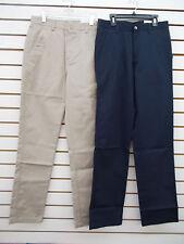Teen Boys Izod Uniform/Casual Khak, Navy, or Black Fl Ft Pants Sz 28X30 - 42X30