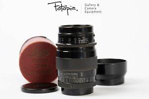 Leica Hektor 73mm F1.9 - LTM with lens hood, all black version (91-93%new)