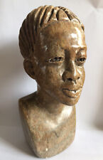 Stone Bust Statue Person Carved Heavy