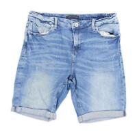 Womens M&Co Blue Denim Shorts Size 14/L8