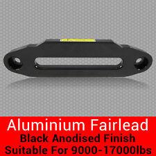Aluminium Hawse Fairlead Black Anodised Winch Alloy Synthetic Dyneema Rope 4X4