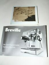 Breville Die-Cast Espresso Machine Programmable BES830XL - Manual only!