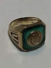 Vintage Gaelic 1942 Dieges & Clust 10K Gold Class Or School Ring Size 6  9.3g