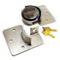 Van Garage Shed Door Security Padlock Hasp Set Lock Heavy Duty 73mm Steel TE15