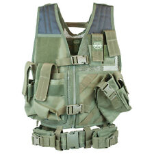 Valken Crossdraw Paintball Airsoft Vest Tactical Youth Olive Protection Padded