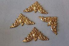 Gold Metal Frame Picture Fancy Corner Enhancers Set of 4 L#1302