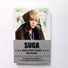 "[BTS] SUGA Solo Photo Message Cards 56pcs Bangtan Boys 3.39"" x 2.17"""