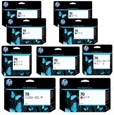 LOT HP 70 RED BLUE GREEN GLOSS ENHANCER GRAY INK CARTRIDGE PRINTHEAD Z3100 NEW