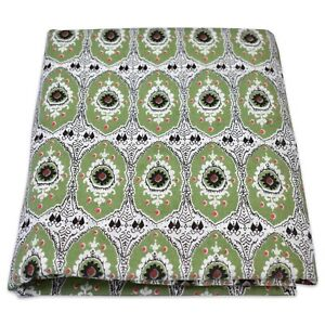 10 Yard Indian Hand Block Printed Fabric Cotton Running Dress Sewing Material A2
