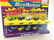 (4) Micromachines set #8 DETROIT CLASSICS +5cars(Renault 5 Turbo) NEW IN BOX